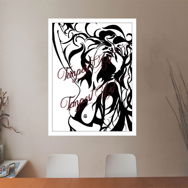 Stellar passion and desire expressions Canvas Painting Office Art Print Tempest Art