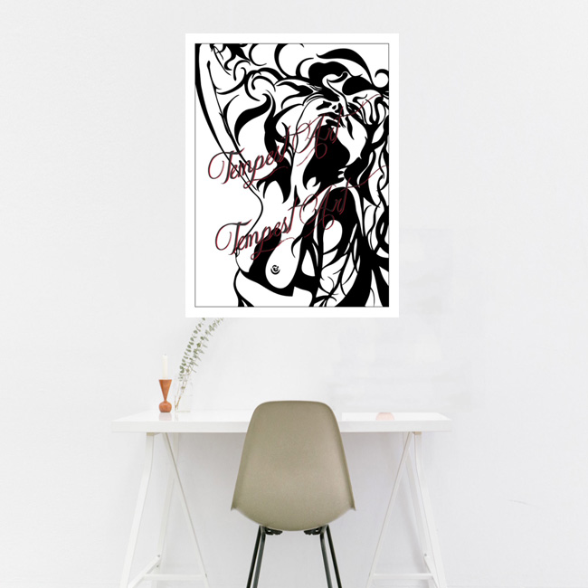 Stellar passion and desire expressions Canvas Painting Home Art Print Tempest Art