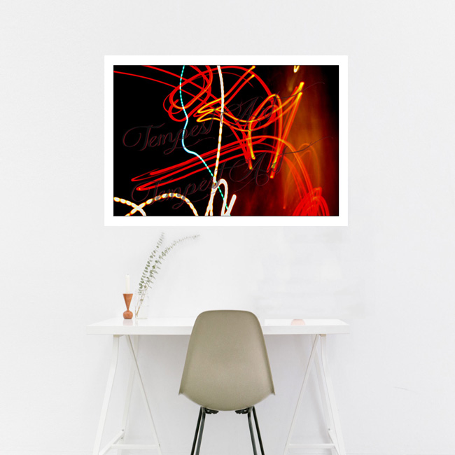 Anger Red lines sharply turning and contorting Lightworks Home Art Print Tempest Art