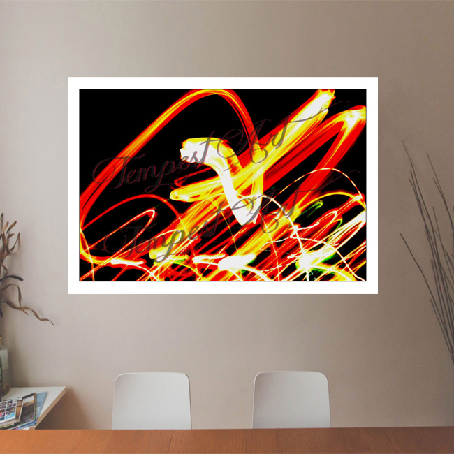 Fairy Flair Colorful lights dancing around in a flair Lightworks Office Art Print Tempest Art