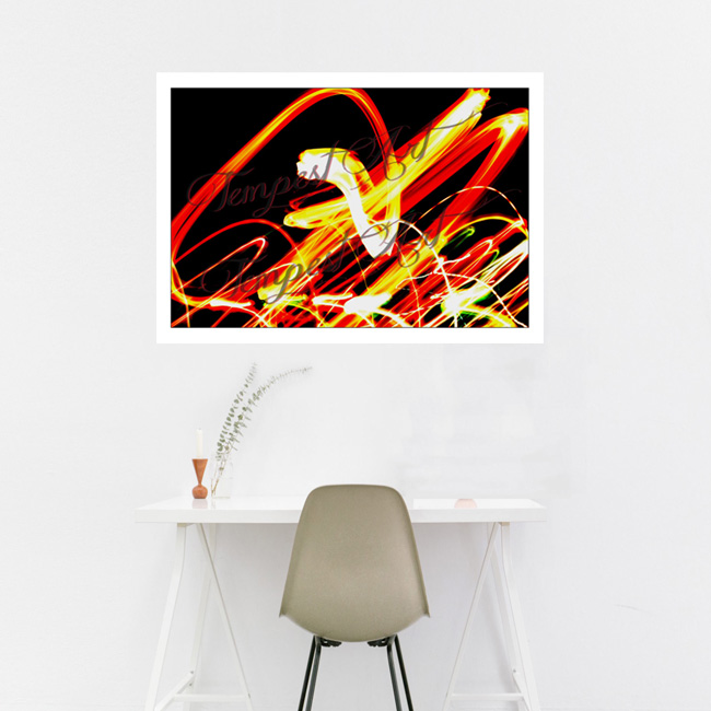 Fairy Flair Colorful lights dancing around in a flair Lightworks Home Art Print Tempest Art