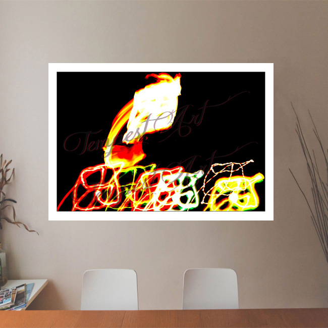 Rising Dragon dragon head rising up and above Lightworks Office Art Print Tempest Art