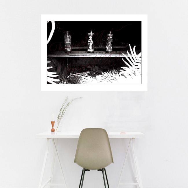 Votives open New Orleans tomb with visible skeleton bones NOLA Photography Home Art Print Tempest Art