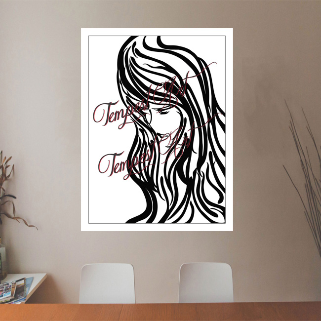 Cosa Linda calm and introspective expressions Canvas Painting Office Art Print Tempest Art