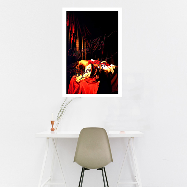 Caravaggio Death of a Virgin Tableau Tempest Art Home Art Print