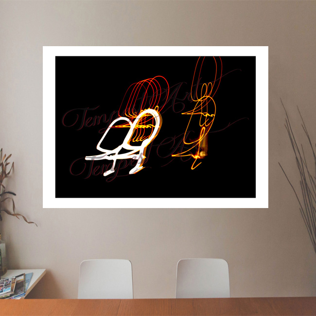 Deez Nuts Orange and white lines in a circular motion Lightworks Office Art Print Tempest Art