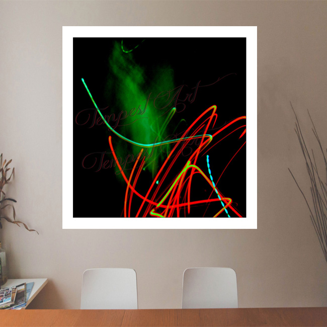 Genie green fog or smoke that appears to be coming out of the lights Lightworks Office Art Print Tempest Art